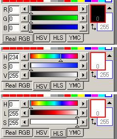 RGBやHLSでの色作成が可能